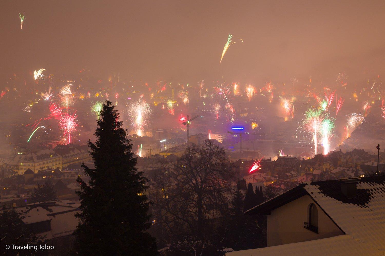 Stuttgart Germany New Years Fireworks