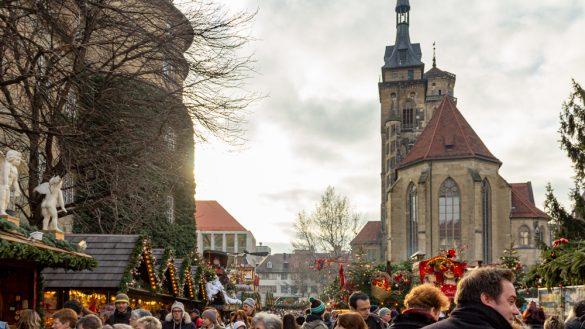 Downtown Stalls Stuttgart Weihnachtsmarkt Christmas Market Germany
