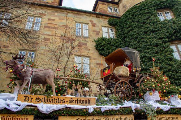 Stall Rooftop Stuttgart Weihnachtsmarkt Christmas Market Germany