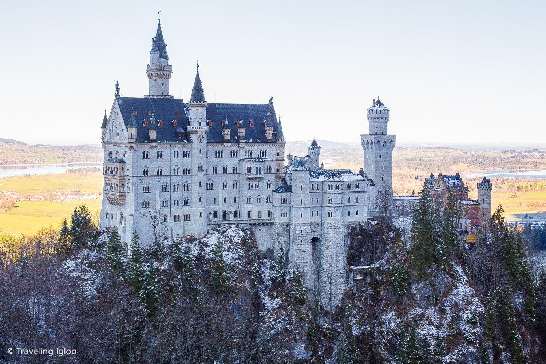 Schloss Neuschwanstein Winter Marien Brucke Bridge