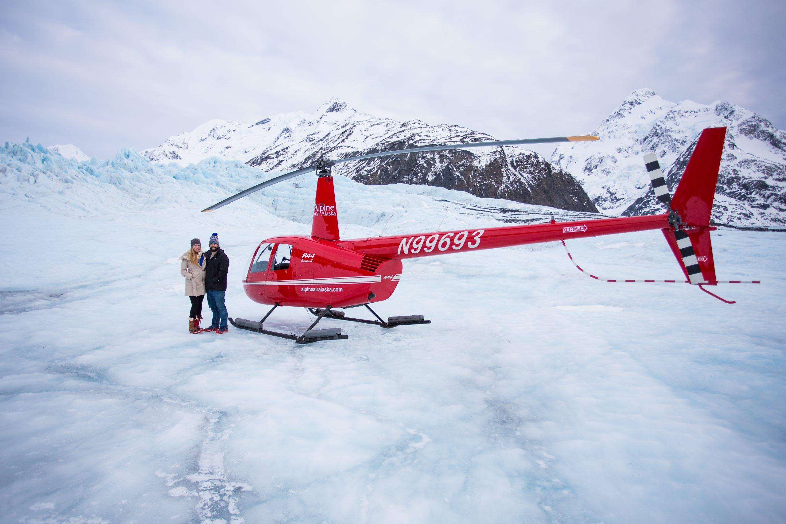 Standing on an Alaska Glacier near Girdwood