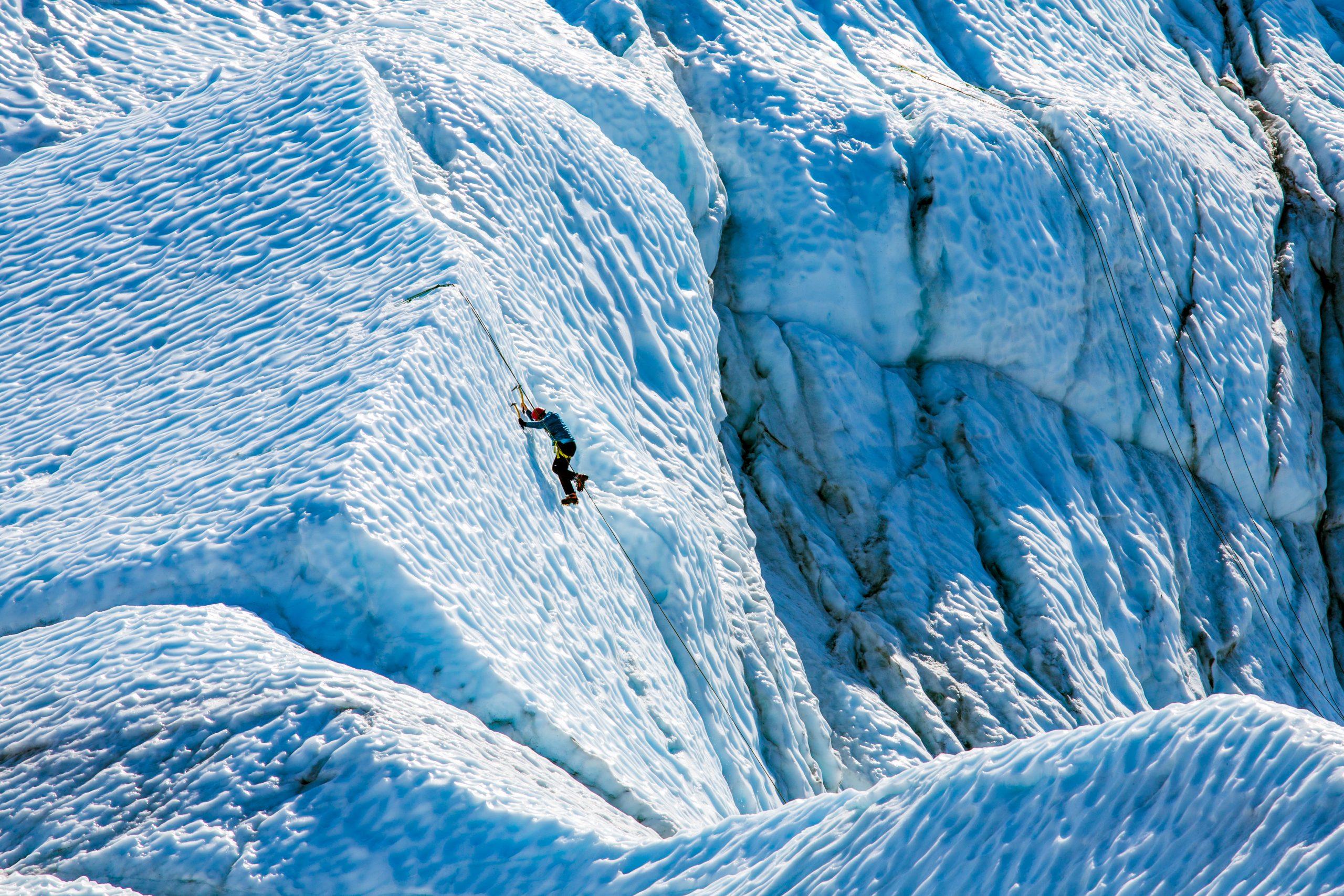 Matanuska Glacier Fall Ice Climber Alaska