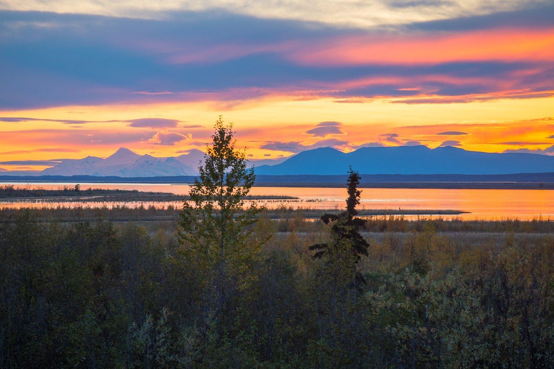 Reflections Lake Wasilla Alaska Sunset