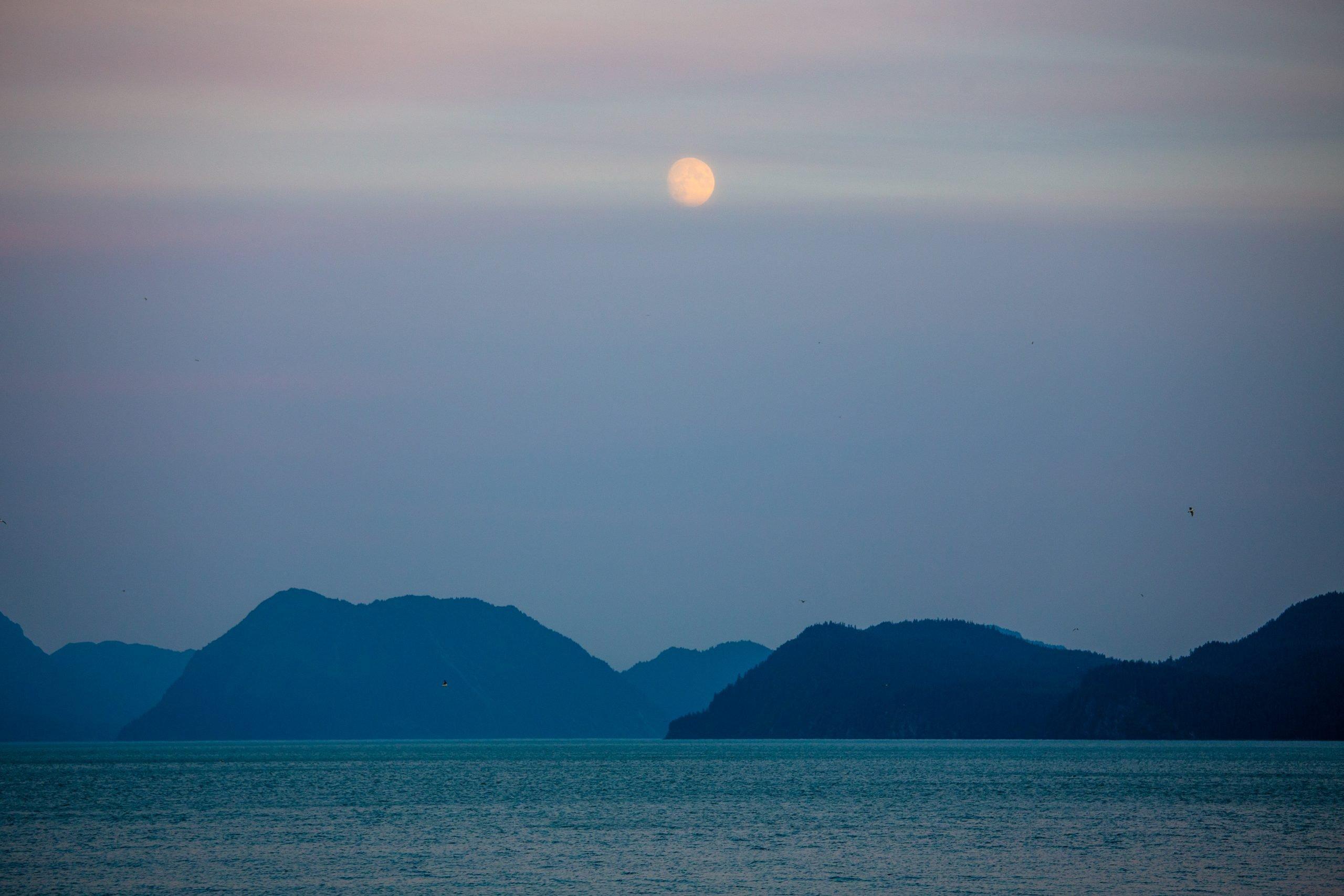 Seward Alaska Summer Moonrise