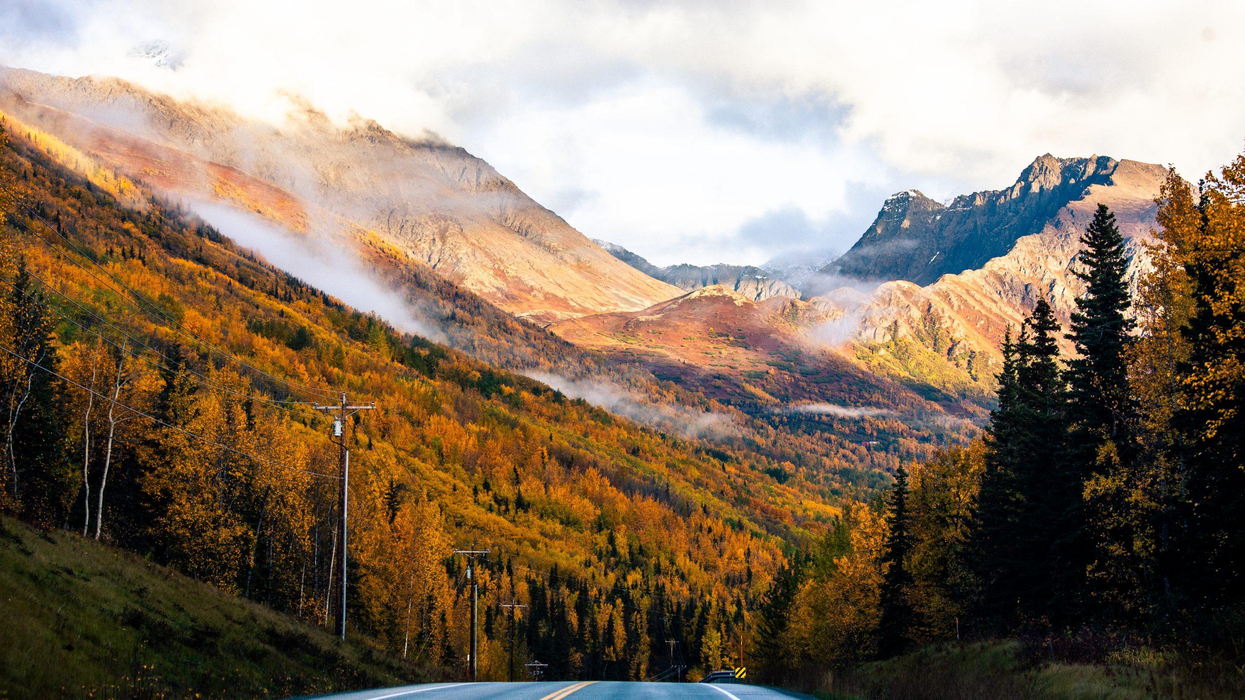 Fall Eagle River Road Alaska